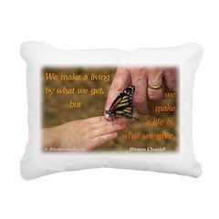 'Butterfly' Rectangular Canvas Pillow