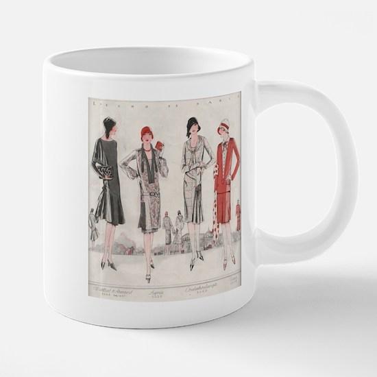 1928 Flapper Fashion Mugs