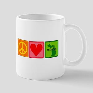 Peace Love Michigan Mug