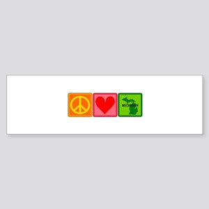 Peace Love Michigan Sticker (Bumper)