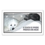 Couch Friends Sticker (Rectangle 50 pk)