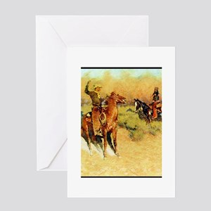 The Longhorn Cattle Sign, 1911 Greeting Card