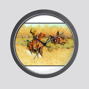 The Longhorn Cattle Sign, 1911 Wall Clock