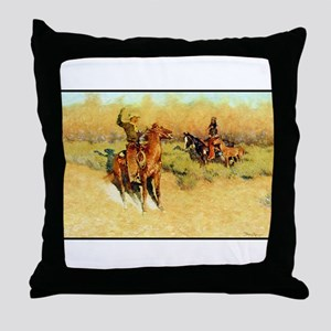 The Longhorn Cattle Sign, 1911 Throw Pillow