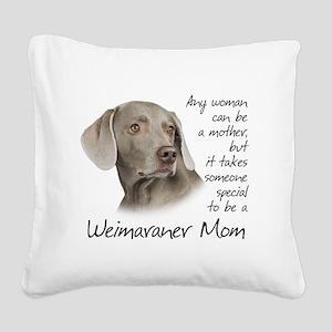 Weimaraner Mom Square Canvas Pillow