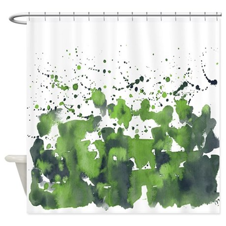 Forest burst Shower Curtain