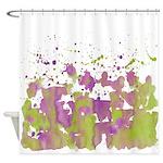 Green lilac burst Shower Curtain
