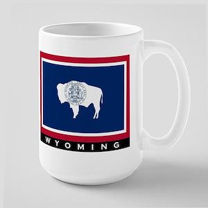 Wyoming State Flag Large Mug