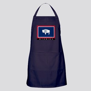 Wyoming State Flag Apron (dark)