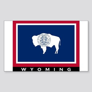 Wyoming State Flag Sticker (Rectangle)