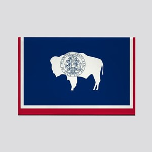 Wyoming State Flag Rectangle Magnet