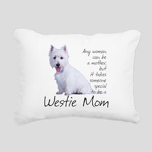 Westie Mom Rectangular Canvas Pillow