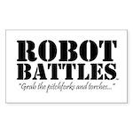 Robot Battles  Sticker (Rectangle 50 pk)