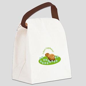 I love Capybaras Canvas Lunch Bag