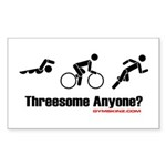 triathlon-3some-gymskinz Sticker (Rectangle 50 pk)
