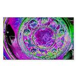 Purple Green Wheel Sticker (Rectangle 50 pk)