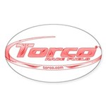 Torco pinstripe small Sticker (Oval 50 pk)