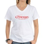 Torco pinstripe small Women's V-Neck T-Shirt