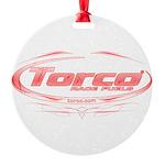 Torco pinstripe medium Round Ornament