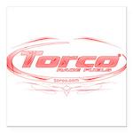 "Torco pinstripe medium Square Car Magnet 3"" x 3"""
