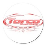 Torco pinstripe medium Round Car Magnet