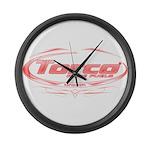 Torco pinstripe medium Large Wall Clock