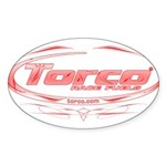 Torco pinstripe medium Sticker (Oval 10 pk)