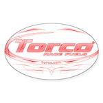 Torco pinstripe medium Sticker (Oval)