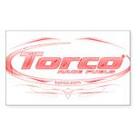 Torco pinstripe medium Sticker (Rectangle)