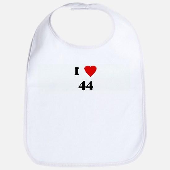 I Love 44 Bib