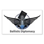 Ballistic Diplomacy Sticker (Rectangle 50 pk)
