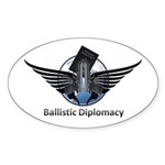 Ballistic Diplomacy Sticker (Oval 50 pk)