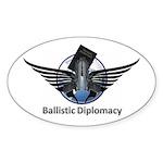 Ballistic Diplomacy Sticker (Oval 10 pk)
