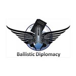 Ballistic Diplomacy 35x21 Wall Decal
