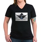 Ballistic Diplomacy Women's V-Neck Dark T-Shirt