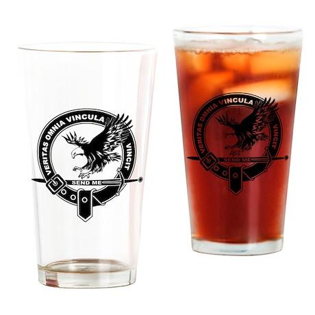 SAD Unit Crest B-W Drinking Glass