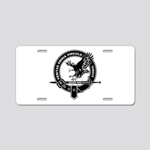 SAD Unit Crest B-W Aluminum License Plate