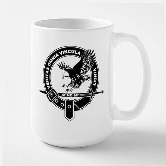 Sad Unit Crest B-W Large Mug Mugs