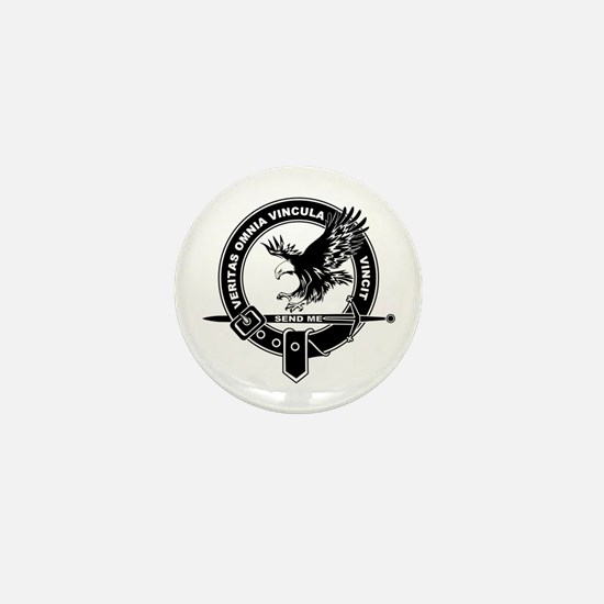 SAD Unit Crest B-W Mini Button