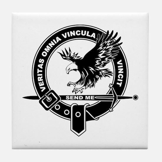 SAD Unit Crest B-W Tile Coaster