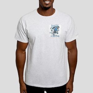 PARTY AT MY CRIB Ash Grey T-Shirt