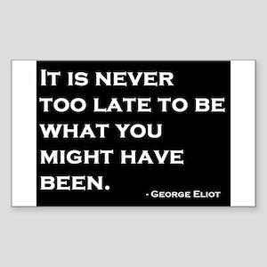 George Eliot Quote Sticker (Rectangle)