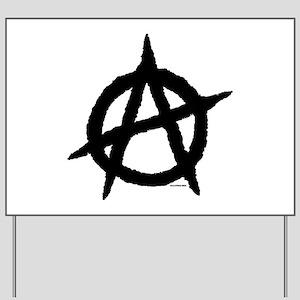 Anarchy (black) Yard Sign