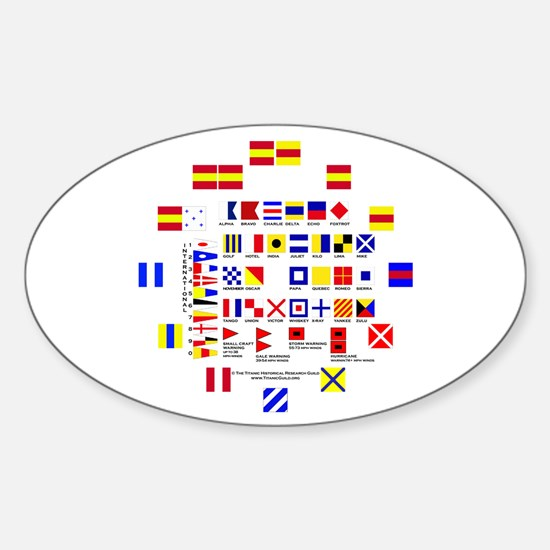 Nautical Flags Sticker (Oval)