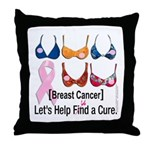 Breast Cancer Find / Fund Cure Throw Pillow