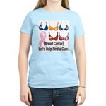 Breast Cancer Find /Fund Cure Women's Pink T-Shirt