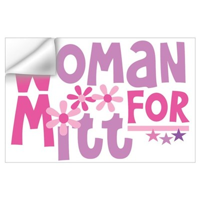 Woman FOR Romney Wall Art Wall Decal