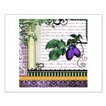 Vintage Plum Fruit Collage Small Poster