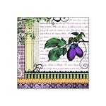 Vintage Plum Fruit Collage Square Sticker 3
