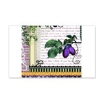 Vintage Plum Fruit Collage 20x12 Wall Decal